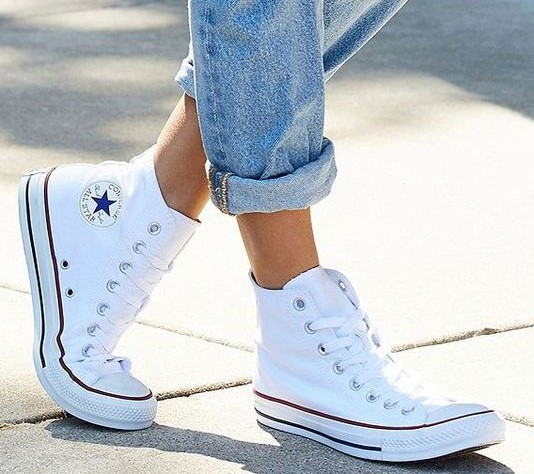white converse high top