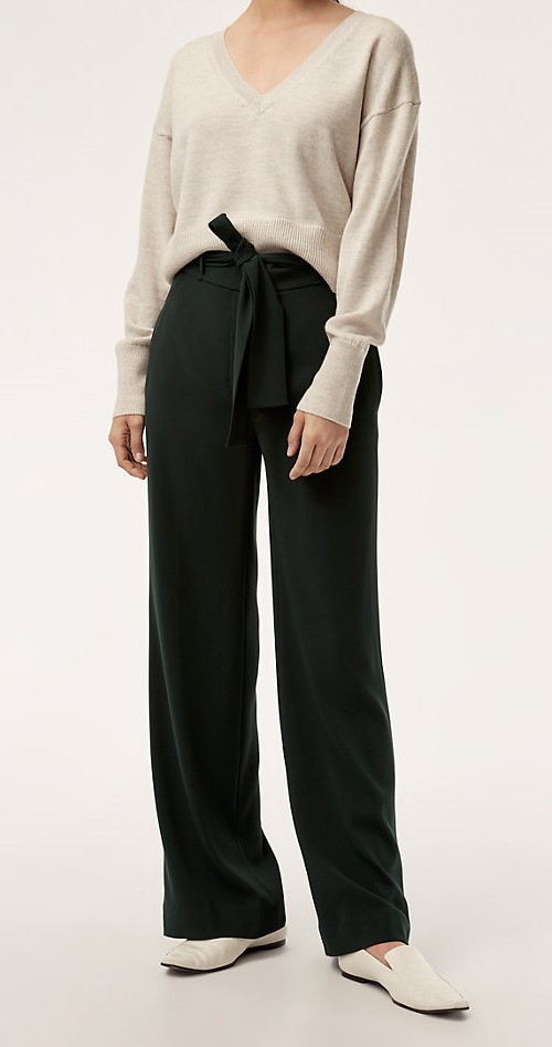 wide leg pants, belted high waist pants, belted wide leg pants
