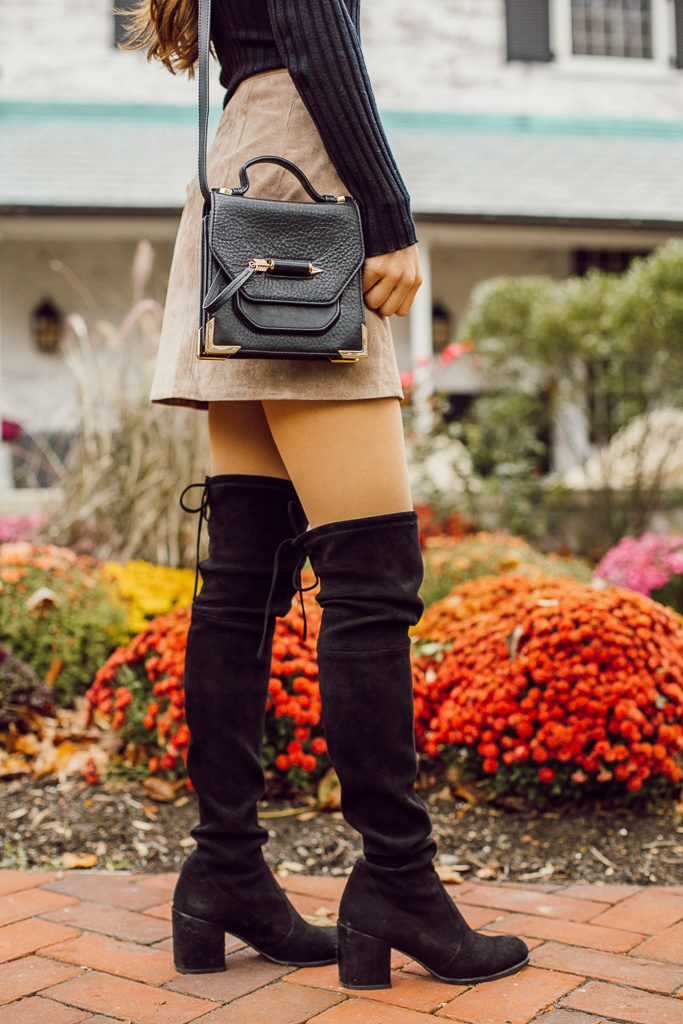 mackage rubie crossbody, over the knee boots